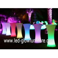 China Glowing LED cocktail bar table , Plastic LED Pillars / Columns for indoor outdoor on sale