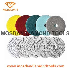 China 5 Step Flexible Wet Polishing Pads for Marble Terrazzo Granite Limestone on sale