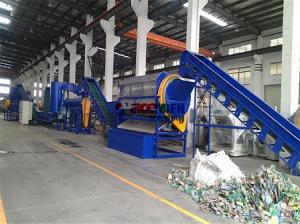 China high quality 500kg/h pet bottle crushing washing line on sale