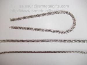 China Supply jewelry steel foxtail chains for necklace and bracelet on sale