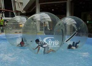 China Clear PVC and TPU inflatable water ball walking on water for kids and adults pool parties on sale