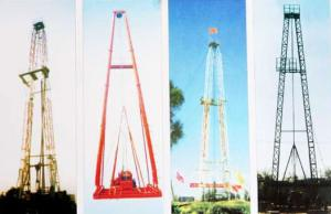 China Vertical Shaft Core Drilling Rig Mast / Straight And Slanting Drill Tower on sale