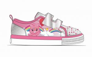China Custom Casual Canvas Shoes , Girls Slip On Shoes Printed Glittering Fabric on sale