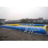 Backyard Residential Water Inflatable Activity Pool / PVC Inflatable Amusement Park Rentals