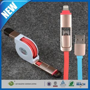 China Custom Cell Phone USB Cable , Iphone / Android Smartphone Data Sync Cable on sale