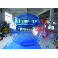 Blue Inflatable Water Walking Ball , Inflatable PVC Water Ball With German Zipper