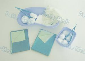 China Wound Care Disposable Surgical Kits , Sterile Dressing Packs With Medical Plastic Kidney Bowls on sale