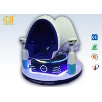 Blue And White VR Simulator Chair, Double Seats Vr Egg Chair With Servo Motor