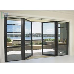 China Soundproof Glass Double Outswing Exterior Door Powder Coating Finished on sale