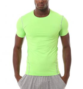 China Cool Dry Skin Fit Mens Short Sleeve Compression Top For Outdoor Excursion on sale