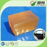 Pegamento caliente industrial coloreado amarillo del derretimiento del bloque para translúcido automotriz