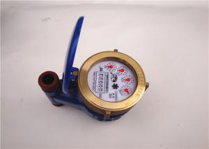 Quality Blue Vane Wheel Water Usage Meter 3/4 Inch for Household / Commercial for sale