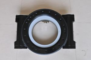China 9 Dual Worm Gear Drive / Slewing Ring Bearing For Excavator , Internal Gear on sale
