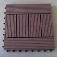 Brushed / Embossing Wood Patio Tiles , Patio Garden Floor Decking Tiles For Wall Decoration