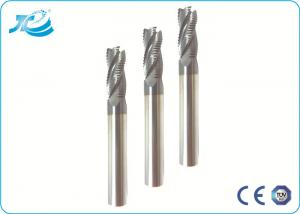 China TiAlN Coating Flat End Mill Solid Carbide Cutting Tools 3 - 4 Flute on sale