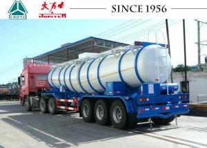 China 19 CBM Sulfuric Chemical Tanker Truck 35T Payload With Germany Axles on sale