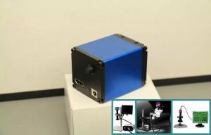 China Black HD Microscope Camera , High Resolution Mini Microscope Camera With Power Supply on sale