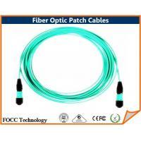 Industrial Fiber Optic Patch Cables OFNP Plenum Jacket MTP / MPO Male Connectors