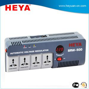 China Relay type single phase LED display 220V portable automatic voltage stabilizer with power socket on sale