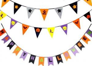 China OEM 43 Colors Felt Holiday Decorations Halloween Garland For Halloween on sale
