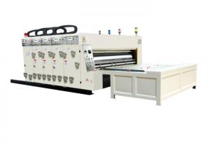 China Semi Automatic Flexo Printer Slotter Machine Printing Size 2100*1250mm Thickness 4-7mm on sale