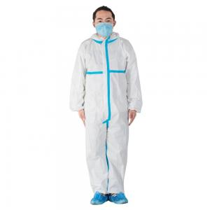 China Flame Retardant  Disposable Protective Coverall Medical GradeCE FDA Approval on sale