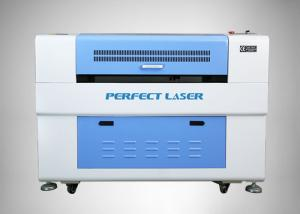 China White And Blue Co2 Laser Engraving Machine For Craft / Plexiglass on sale