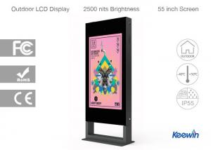 China Super Thin Outdoor Advertising Kiosk With Temperature And Humidity Control on sale