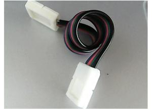 China Double connectors with a cable for 10mm RGB led tape light with CE RoHS on sale