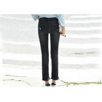 China Girls Skinny Denim Pants Ripped Paint Super Spandex / Cotton Material on sale