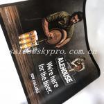 Anti-slip neoprene mat anti fatigue rubber bar mat with printing logo