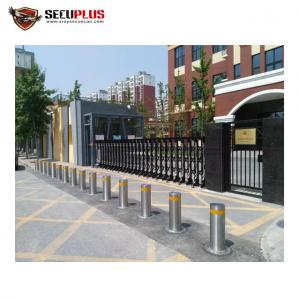 China Security road traffic retractable auto rising electronic bollard system for police, government building, prison on sale