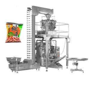 China Multihead weigher snack/chips/Macadamia crisps packaging machine,Automatic 10 head multihead weigher VFFS nut packaging on sale