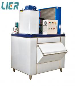 China 1.5 Ton Per Day Flake Ice Machine With CE / ISO / SGS Certificate on sale