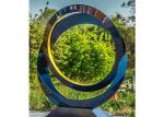 Circle Contemporary Decoration Stainless Steel Sculpture Artists 100cm Dia
