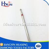China Diamond Material Nail Drill Accessories , Safety Nail Bit For Nail Dryer Machine on sale