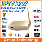 China Malaysia HD IPTV Set Top Box ASTON X8 ASRTO IPTV Android Box Support 156 Channles For Malyasia Singapore Indonesia wholesale
