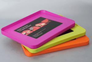 China LFGB Multifunction PP Plastic Chopping Board Pink Orange For Kitchen on sale