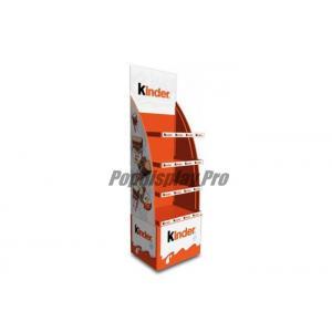 Free Standing Cardboard POP Displays Stand 4 Shelf For Holding Kinder Snacks