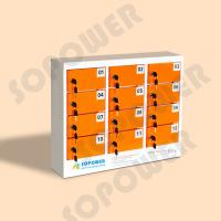 simple and elegant style 12 door keychain multi phone metal charging locker public cell phone charging station