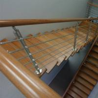 China Wood Handrail Stainless Steel Rod Railing for Staircase Design on sale