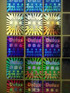 China Printing Hologram Laser Labels in Anti-counterfeiting on sale