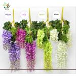 China UVG Artificial Flower for Wall Decoration in White Wisteria wedding use china market wholesale