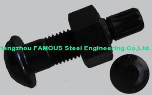 China Steel Buildings Kits Black Bolts And Fasteners With High Tension Hex Bolts on sale
