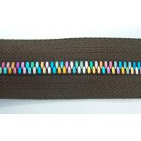 China Plastic Rainbow Teeth Zippers For Handbag Garment , Customized on sale
