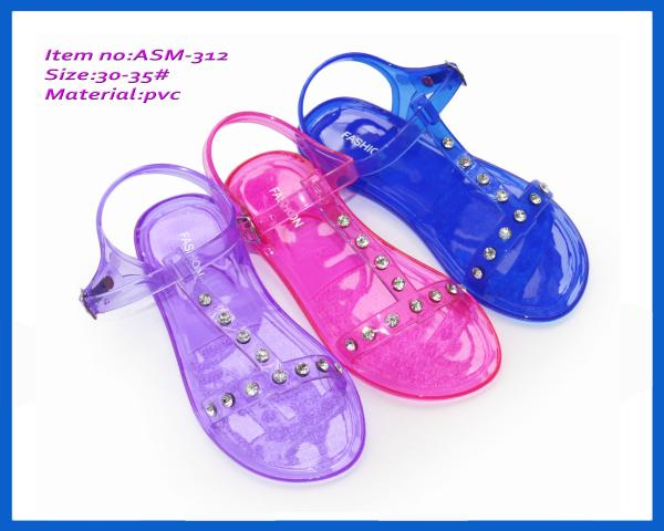 1cc30d742cb1a Summer slippers sale children s fashion newest PVC jelly slippers ASM-312  Images