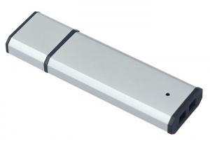 China Silver Plastic USB Flash Drive 16GB , Computer Memory Stick Rectangle on sale
