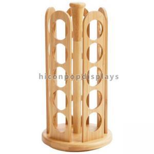 China Durable Tabletop Wooden Display Racks Custom 25 Bottles Candy / Spice Jar Rack on sale