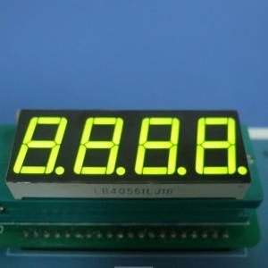 China 4X7 Segment Led Display , Common Cathode Seven Segment Display Green 0.56 inch on sale