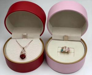 China Multipurpose Recordable Jewelry Display Box Round Shape Easy Maintain on sale